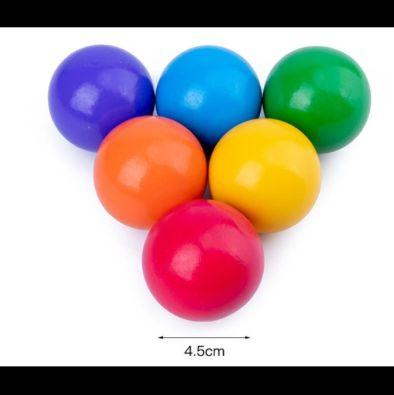 Голяма Дървена Цветна Дъга + 6бр. топки към нея colorfull rainbow