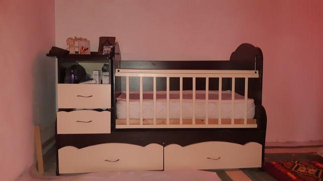 Манеж и кровать 3 в 1
