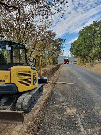 Santuri fundatie sapatura inchiriez Miniexcavator BobCat Excavator