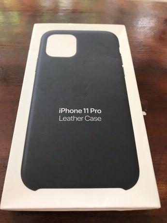 Husa Apple Piele iPhone 11 Pro Midnight Blue Albastru