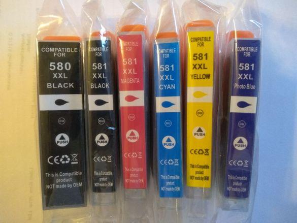Мастилници, касети, тонер, мастило за Canon PGI580 XXL, CLI581 XXL