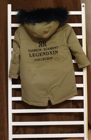 Новая Зимняя куртка парка на мальчика на пуху
