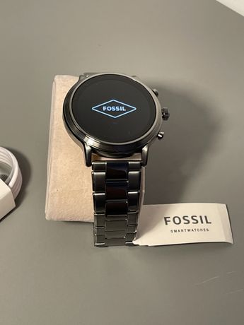 Smartwatch Fossil The Carlyle HR Smoke Stainless Steel