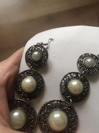 Cercei cu imitatie perla