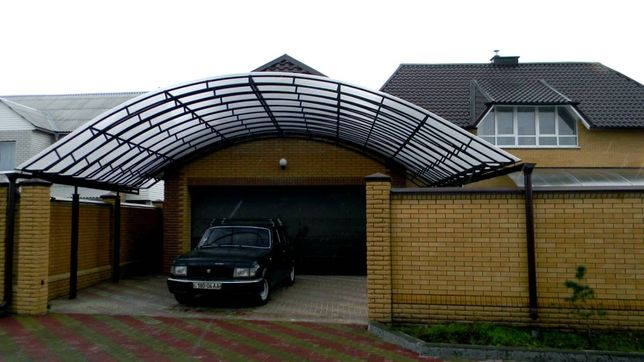 Навес, автонавес из поликарбоната/проф.листа, шумозащитные экраны