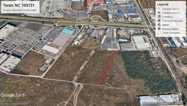 Teren intravilan zona industriala Hornbach Militari