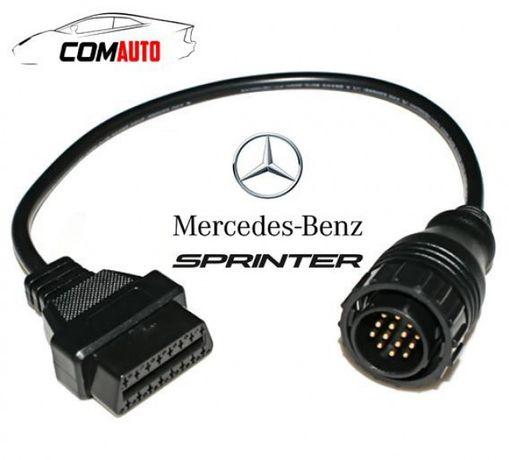 Кабел-преходник от Mercedes (Sprinter) 14 pin мъжки към 16 pin OBD2