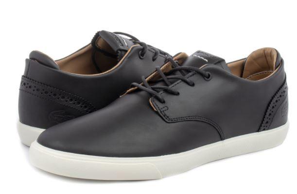 Pantofi Lacoste Esparre, nr. 44, negri, piele 100%, sigilați
