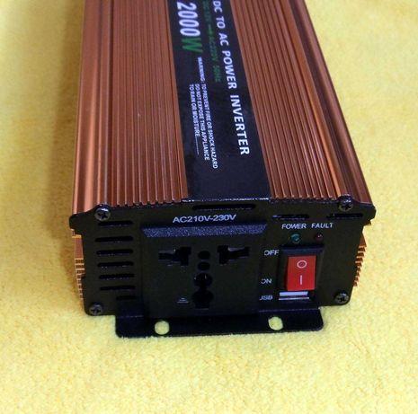 Генератор 220 В. от аккумулятора 12 В. Инвертор новый.