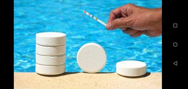Химия для бассейна. Многофункциональные таблетки