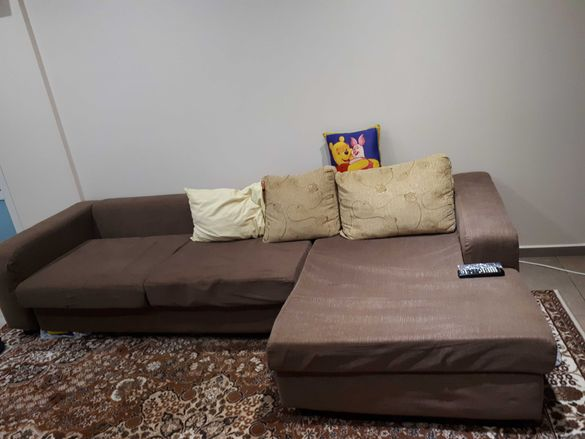 Неразтегателен ъглов диван