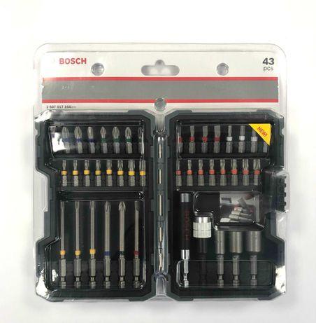 Bosch накрайници, битове, вложки и държачи 43 части, внос от Германия