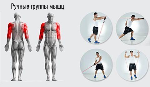 Фитнес резинки для занятия спортом. Жгуты. Тренажер Бубновского, лента