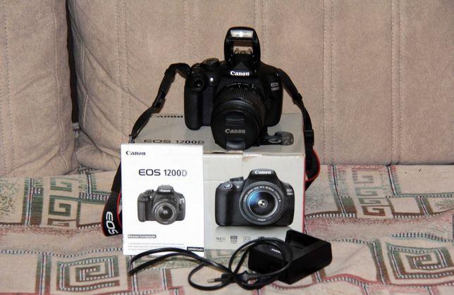 Профессиональный фотоаппарат Canon 1200D 18-55mm. Как новый. Доки
