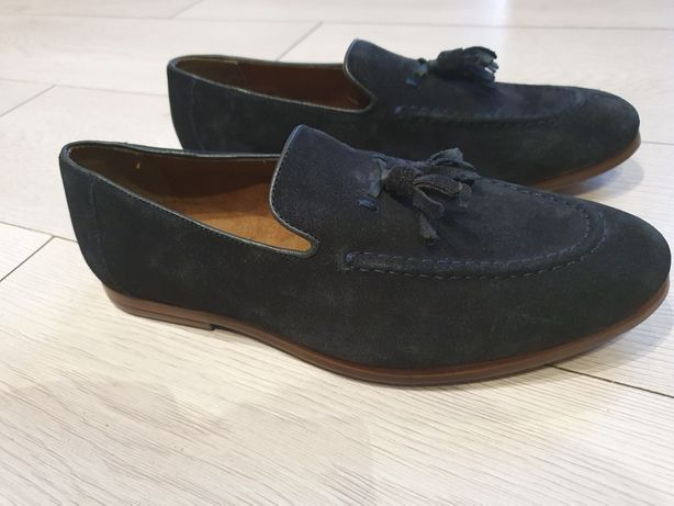 Pantofi original Uki Hell of Leather piele fina naturala nr 41 noi