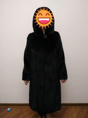 Шуба черная норковая Black Glama