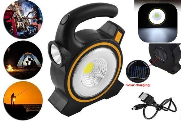 Соларна Къмпинг Лампа Фенер Прожектор Диодна LED USB Зарядно Подвижна