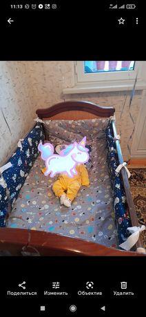 Продам детскую кровать с бортиками