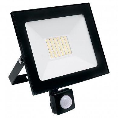 Светодиодный прожектор SAFFIT с датчиком SFL80-50 IP65 50W холодный св