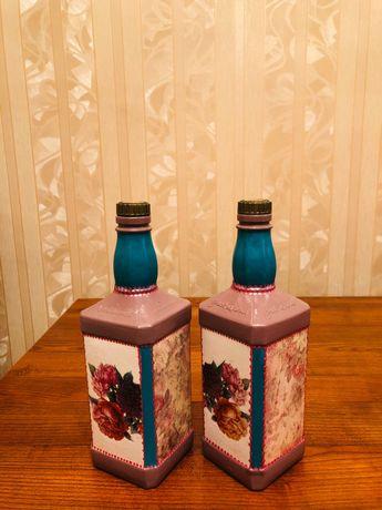 ручная работа-Интерьерные бутылки