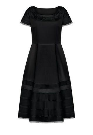 Платье из атласа и кутютной органзы 54р