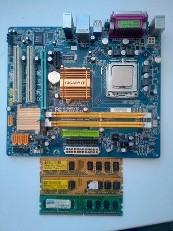 Материнка с ОЗУ и процесором