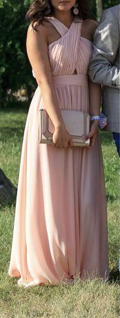 Платье в пол светло-розовое Koton