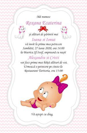 Invitatii nunta - botez, place card uri baby boss