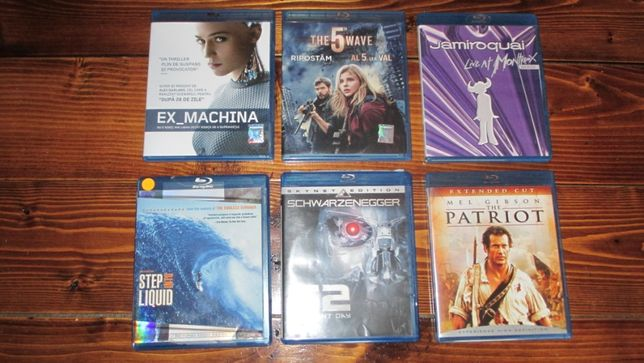 Patriotul, Ex Machina, The 5-th wave, Jamiroquai Blu ray