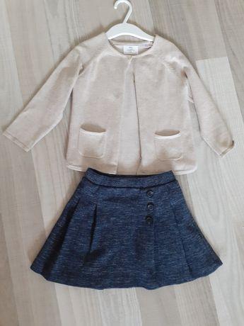 Fusta & Cardigan/bluza Zara 3-4 ani