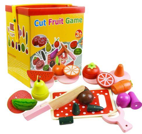 НАМАЛЕНИ ЦЕНИ! Дървени плодове с магнитчета плюс инструменти за рязанЕ
