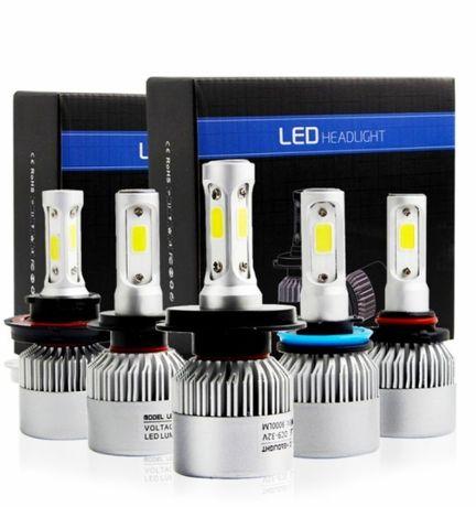Най ново поколение LED H7,H,1,H3,H4 Крушки COB чип
