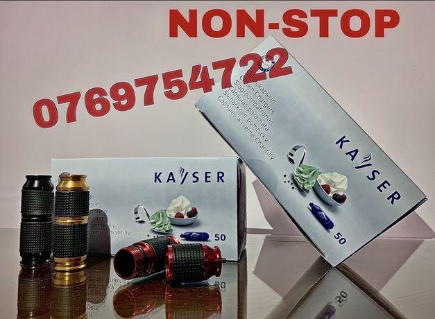CAPSULE AZOT KAYSER N2O pt frisca! NON-STOP! Baloane-Cracker-Pompa