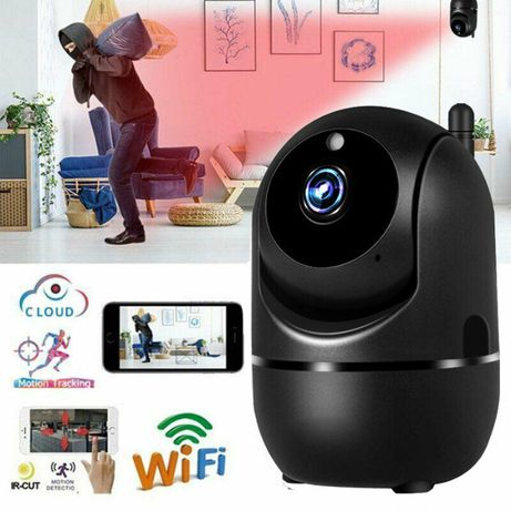 Camera neagra supraveghere IP WIFI HD 1080P 2.0MP, Detectare miscare!