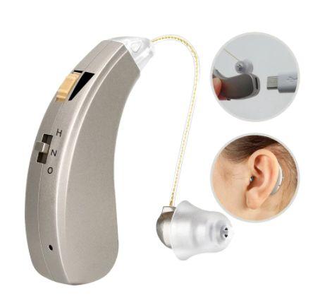 Слуховой аппарат заушной перезаряжаемый , усилитель звука слуха