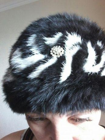 Продам норковую вязаную шапку!