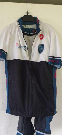 Costum ciclism Castelli - pantaloni, tricou și vesta