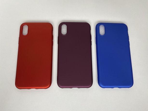 Iphone X XS XR XS MAX - Husa Ultra Slim Silicon Rosie Mov Albastra