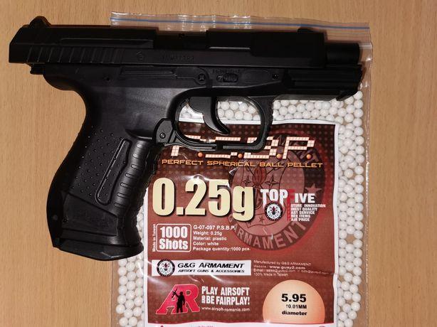 Pistol Walther P99 DAO 4J Umarex Airsoft+cadou 5 co2 si bb