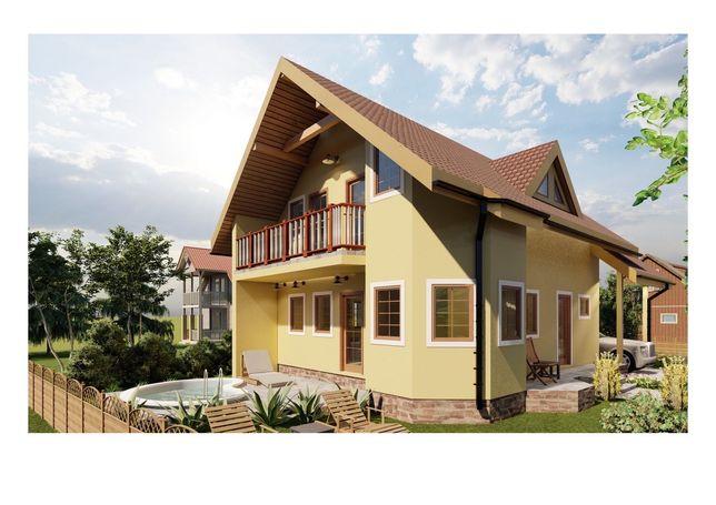 Case lemn - proiect inclus