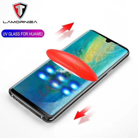 UV NANO Стъклен протектор за целия дисплей Huawei P40 Pro P30 Mate 20
