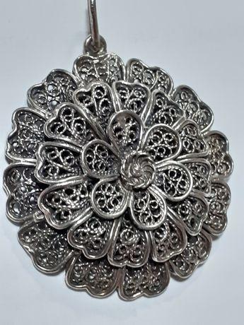 Pandant  vechi floral din argint925 filigranat