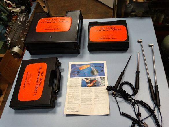 SKF термометър 729117A, стетоскоп 729160, тахометър 729155