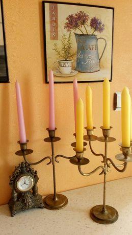 2бр.НЕМСКИ, старинни свещници от месинг