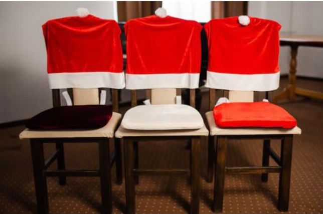 Husa scaun, perna scaun caciula lui Mos Craciun