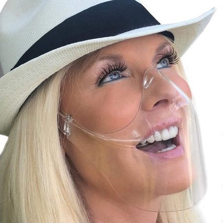 Masca Neo Half Fashion transparenta usoara protectie faciala nas gura