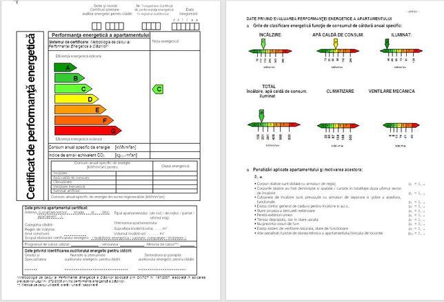 Certificat Energetic Bucuresti apartamente, case 99 lei