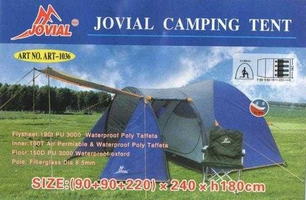 1036 Просторная Люкс Палатка двухслойная высокая на 2-4 человека