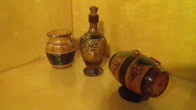 Set Ulcior+Butoias+Ciubar, sculpturi lemn