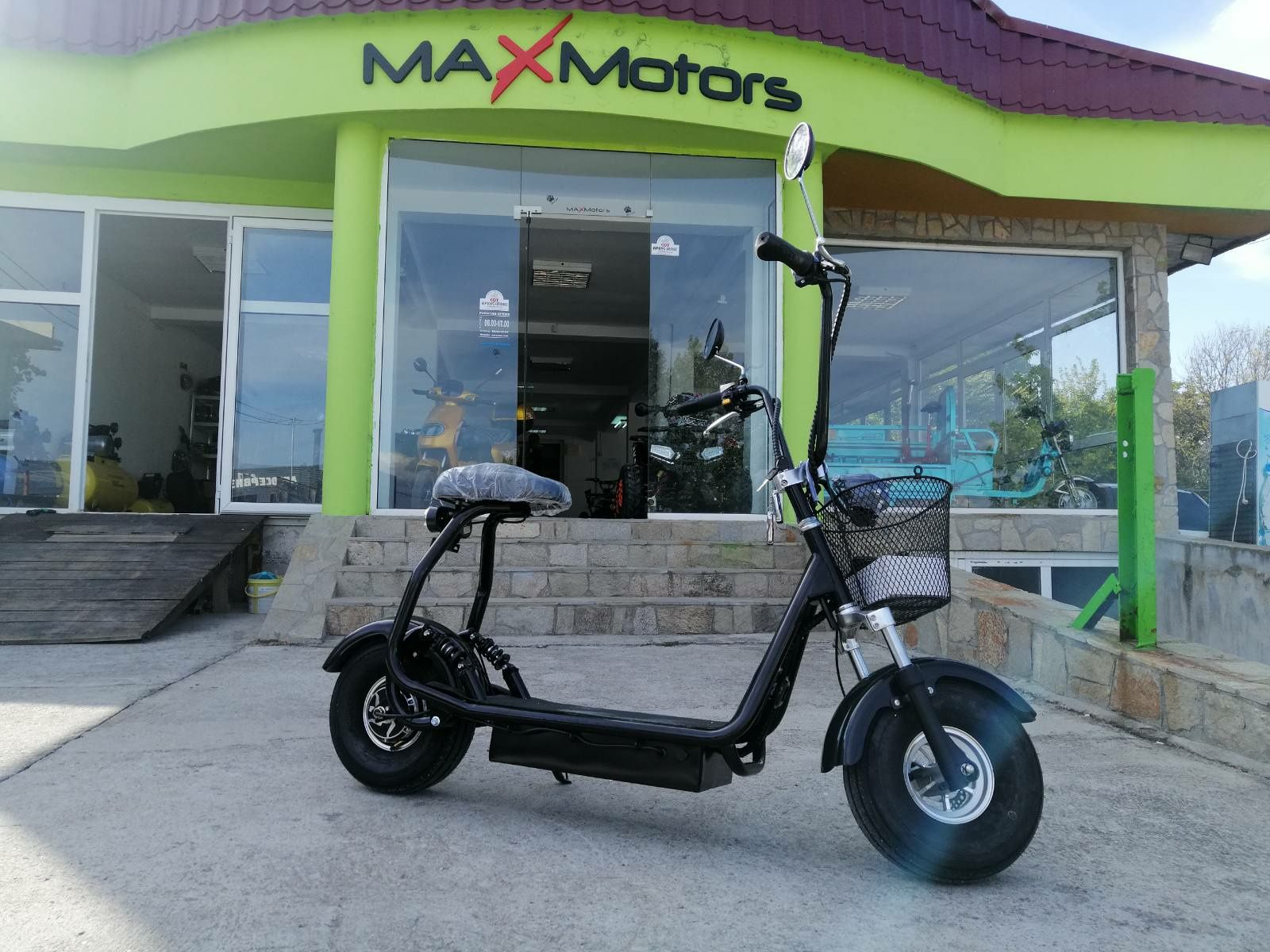 Maxmotors ЕЛЕКТРИЧЕСКИ  СКУТЕР City Harley 1200W NEW model.